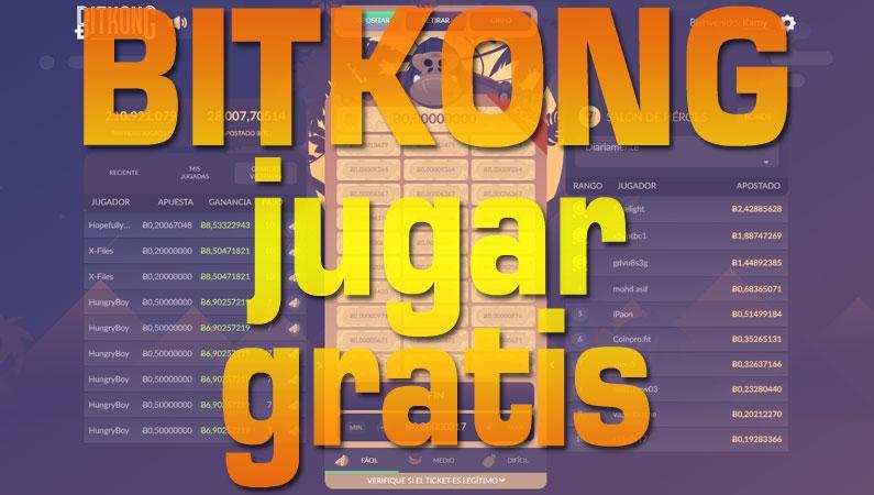BitKong juega gratis con Bitcoin. Ganar 500 satoshis cada 20 minutos