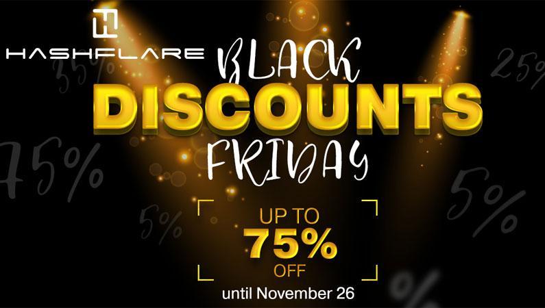Hashflare hasta el 75% de descuento durante el BlackFriday