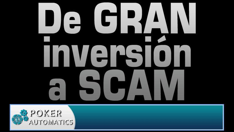 Poker Automatics, de gran a inversión a convertirse en SCAM