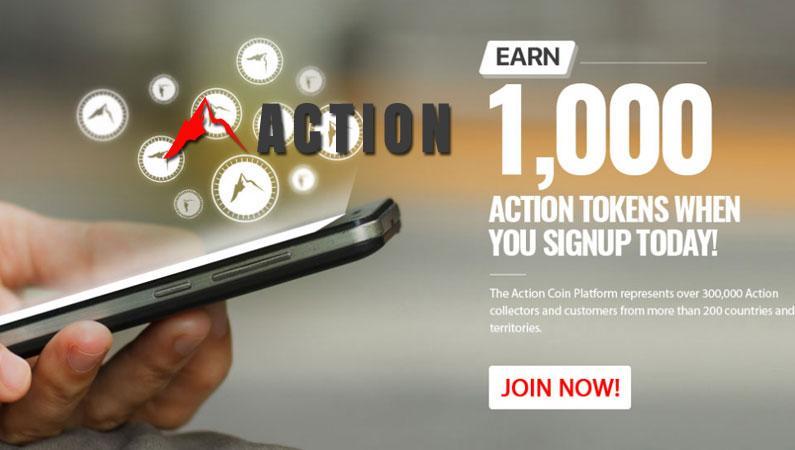 Action Coin ACTN regala 1000 tokens solo por registrarte gratis