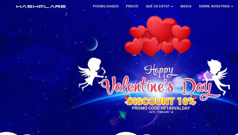 Cupón Hashflare, oferta descuento San Valentín HF18SVALDAY coupon