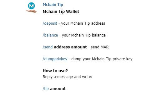 mchain tip