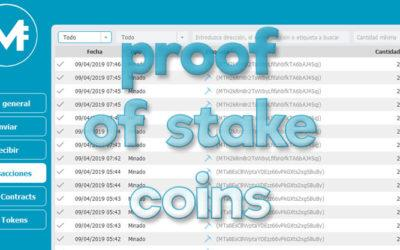 Proof of stake coins, minería PoS