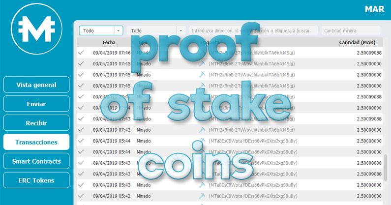 Proof of stake coins