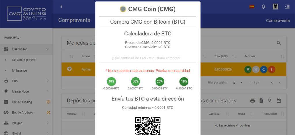 comprar CMG