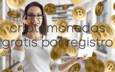 Criptomonedas gratis por registro