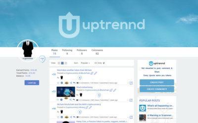 Uptrennd, nueva red social que regala tokens solo por publicar