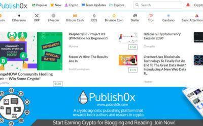 Publish0x, gana criptomonedas por publicar, comentar y valorar