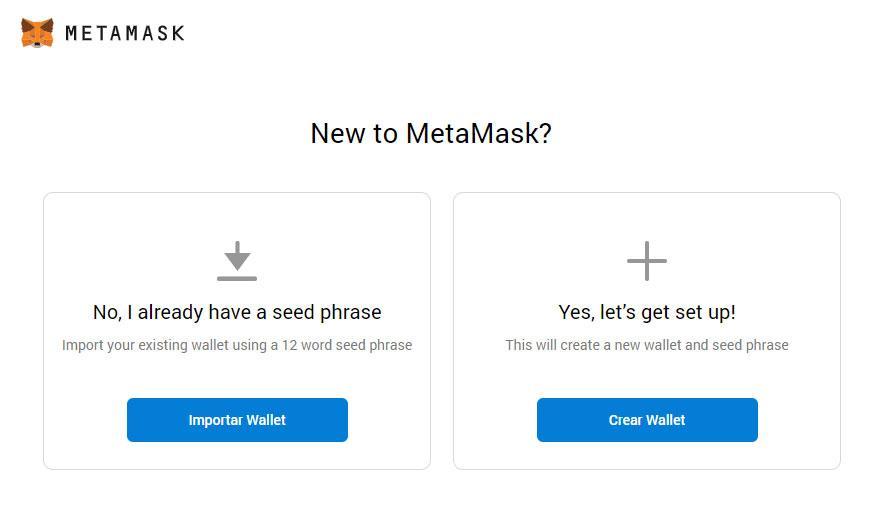 nueva wallet metamask