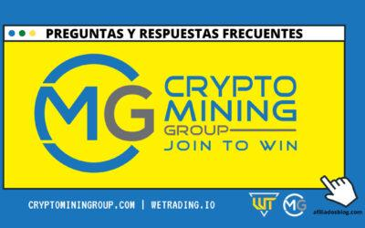 FAQs de Cryptominingroup y We Trading